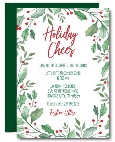 Frame Christmas Invitations