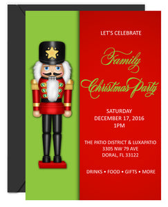 Nutcracker Christmas Invitation