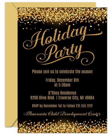 Confetti Holiday Invitations