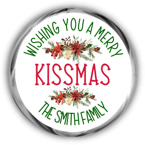 Merry Christmas Kisses Stickers