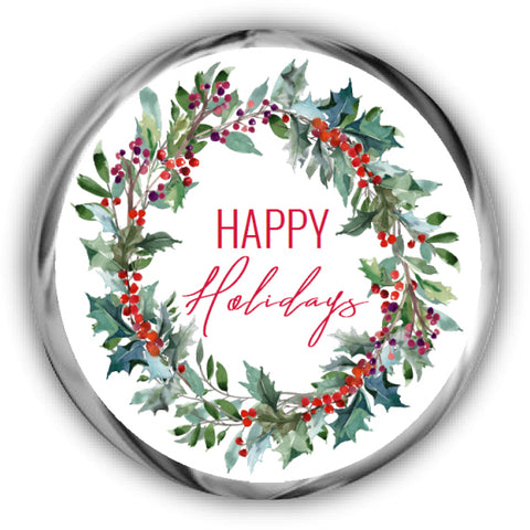 Wreath Christmas Kisses Stickers