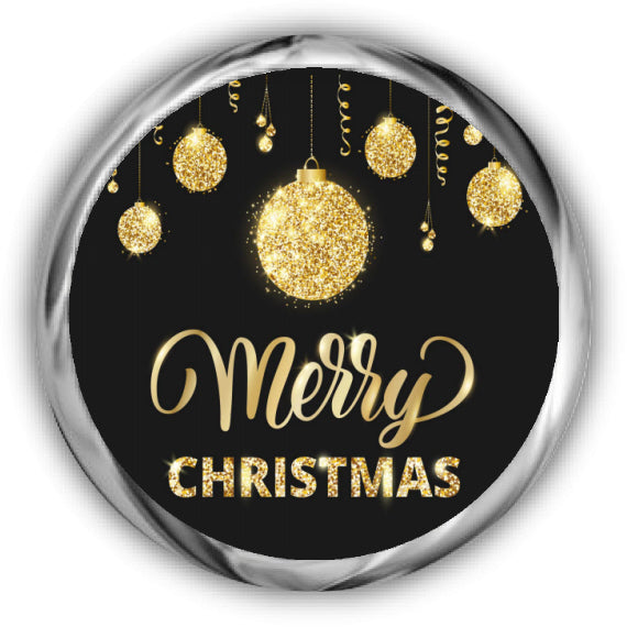 Gold Christmas Kisses Stickers