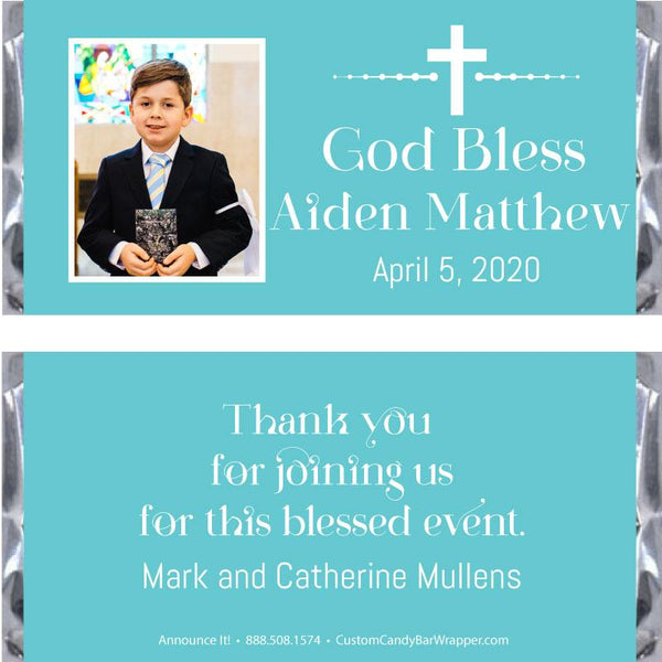 Picture First Communion Candy Bar Wrappers