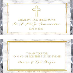 Marble Communion Candy Bar Wrappers