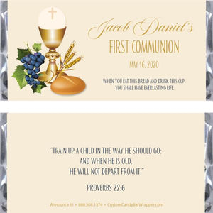 Sacrament First Communion Candy Bar Wrappers