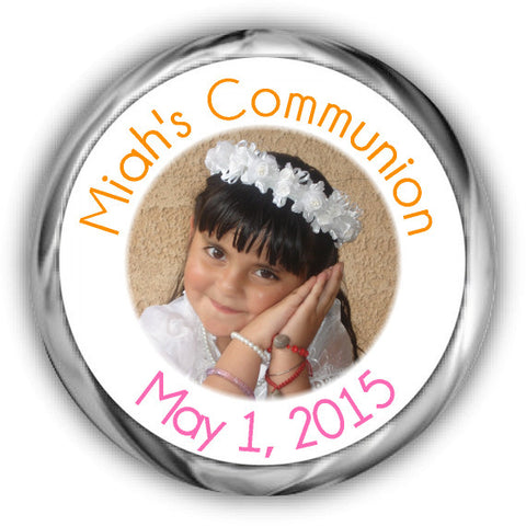 Photo First Communion Kisses Stickers