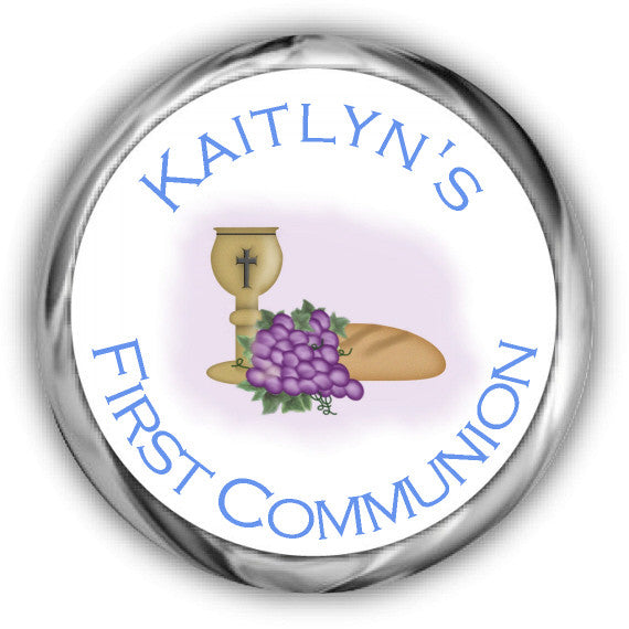 Grapes First Communion Kisses Stickers