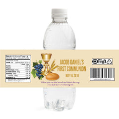 First Communion Water Bottle Label