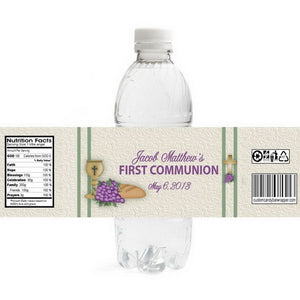 Grapes First Communion Bottle Labels