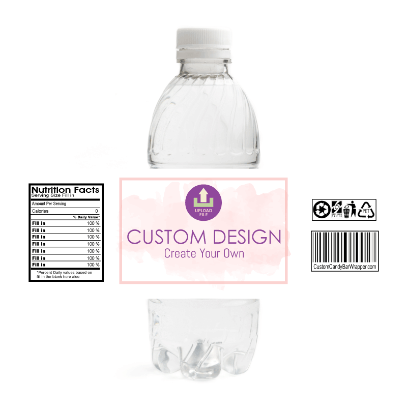 Custom Communion Water Bottle Labels