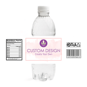 Custom Christening Water Bottle Labels