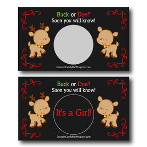 Buck or Doe Gender Reveal Scratch Off Cards