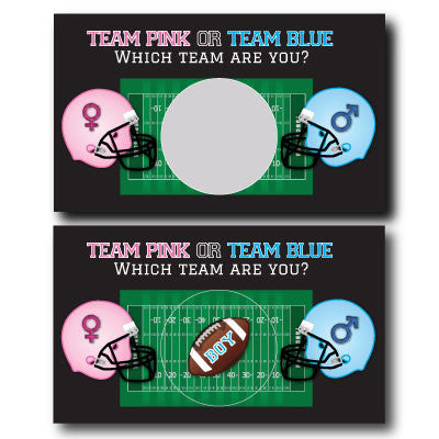 Football Gender Reveal Scratch off Cards