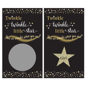 Twinkle Twinkle Little Star Gender Reveal Scratch Off Cards