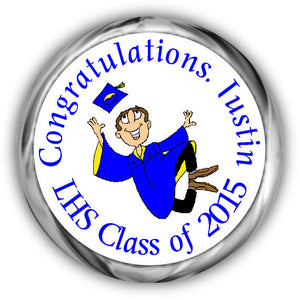 Grad Jumping Graduation Kisses Stickers