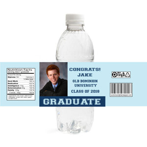 Graduate Graduation Bottle Labels