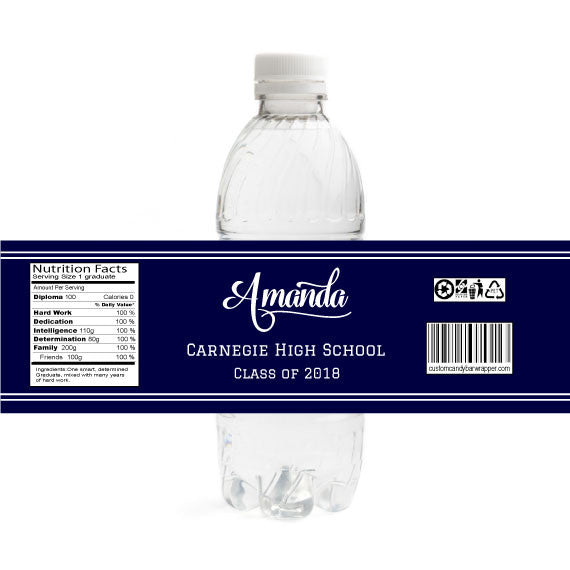 Simple Graduation Bottle Label