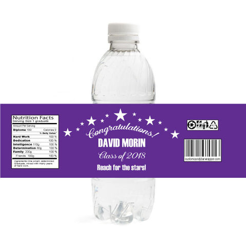 Stars Graduation Bottle Label