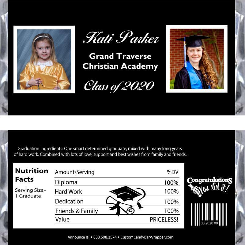 2 Photos Graduation Candy Bar Wrappers