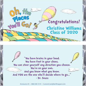 Oh the Places You'll Go Graduation Candy Bar Wrappers
