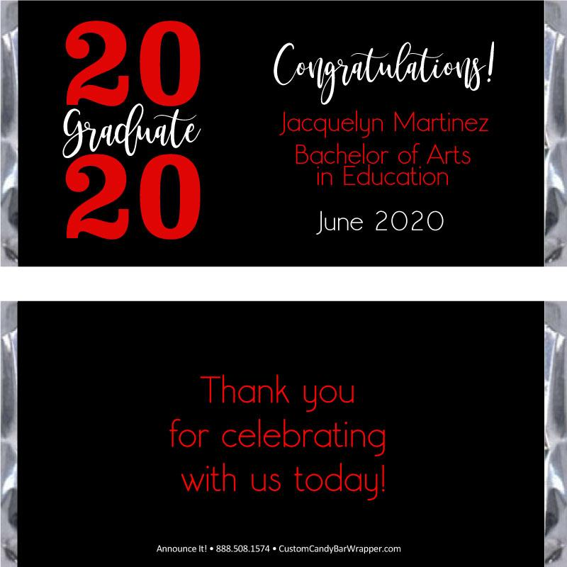 Simple Graduation Candy Bar Wrappers