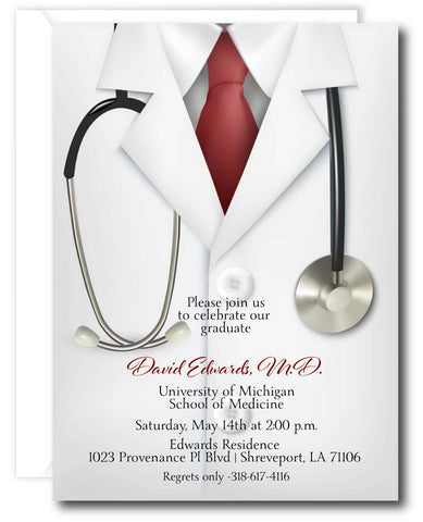 Doctor Graduation Invitation