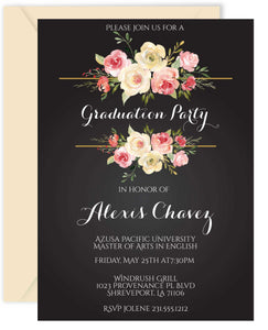 Floral Graduation Invitations