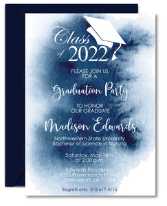 Watercolor Graduation Announcements