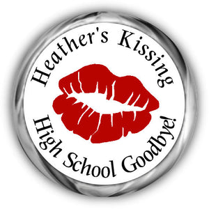 Kissing Goodbye Graduation Kisses Stickers