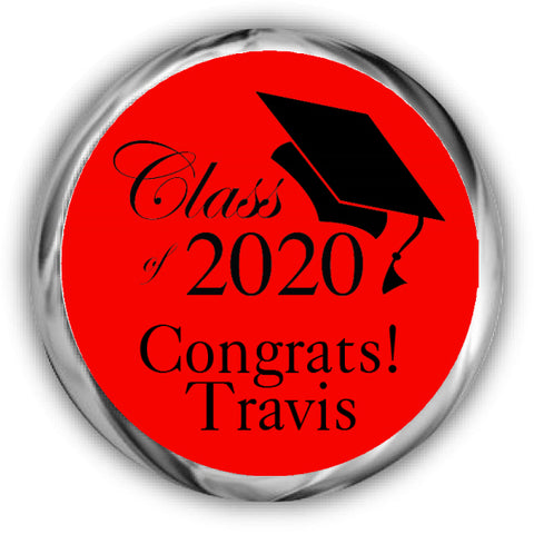 Class Graduation Kisses Stickers