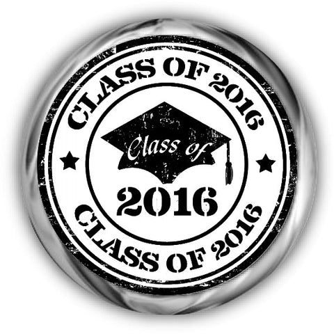 Grunge Graduation Kisses Stickers