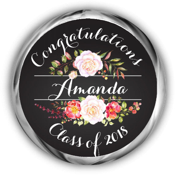 Floral Graduation Kisses Sticker
