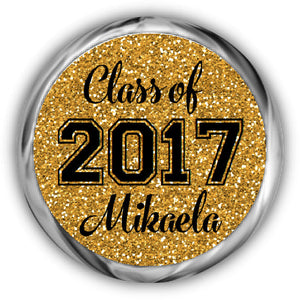 Glitter Graduation Kisses Sticker