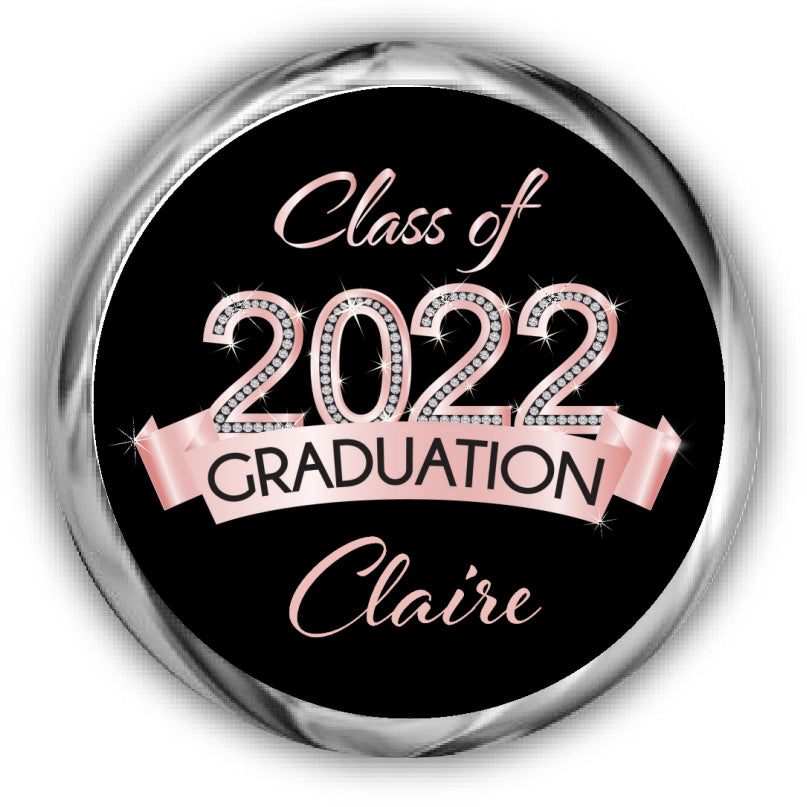 Rose Gold Graduation Kisses Stickers