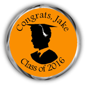Silhouette Male Graduation Kisses Stickers