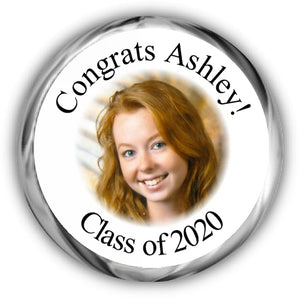 Photo Graduation Candy Kisses Stickers