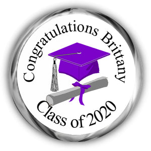 Cap and Scroll Graduation Kisses Stickers