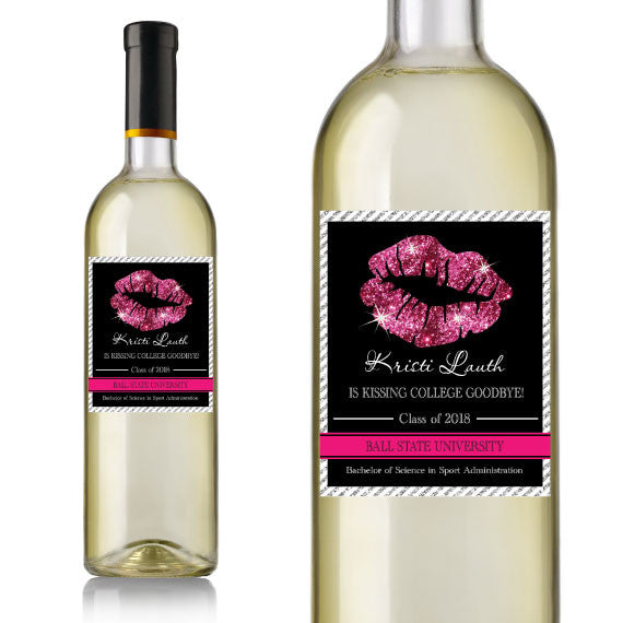 Kiss Graduation Wine Label