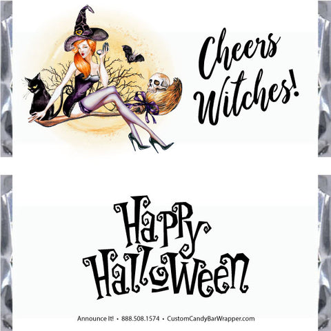 Cheers Witches Halloween Candy Bar Wrappers