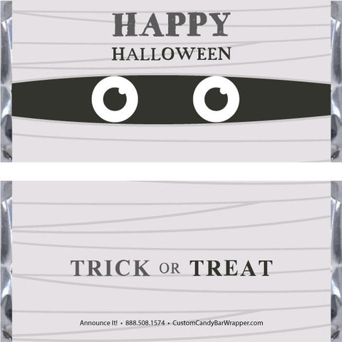 Mummy Halloween Candy Bar Wrappers