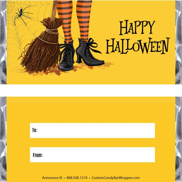 Witches Feet Halloween Candy Bar Wrappers