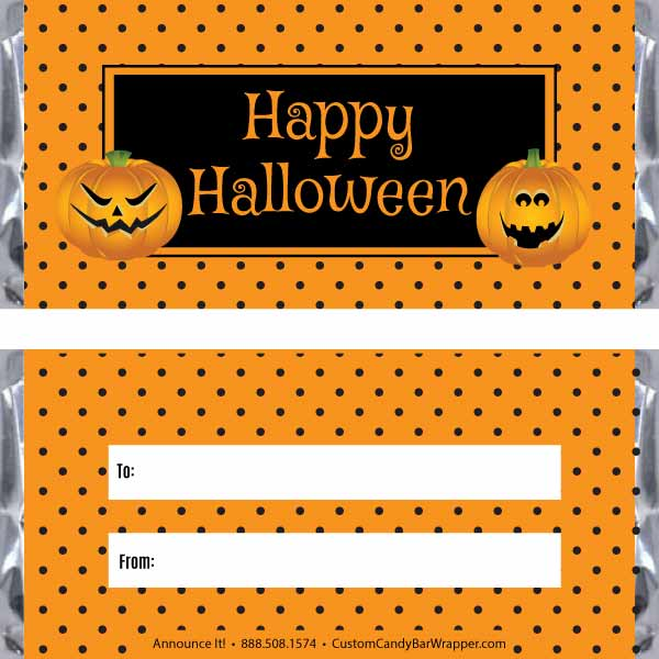 Dots Halloween Candy Bar Wrappers - Announce It!