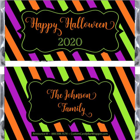 Colorful Halloween Candy Bar Wrappers