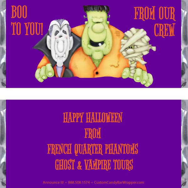 Ghouls Halloween Candy Bar Wrappers