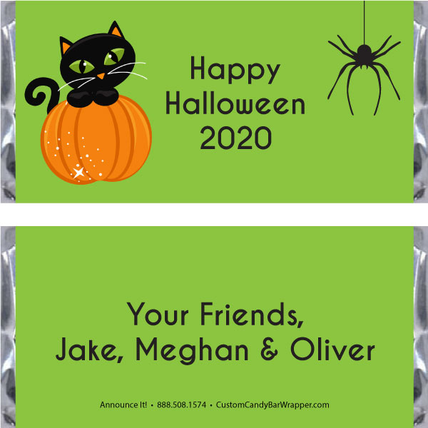 Cat Halloween Candy Bar Wrappers