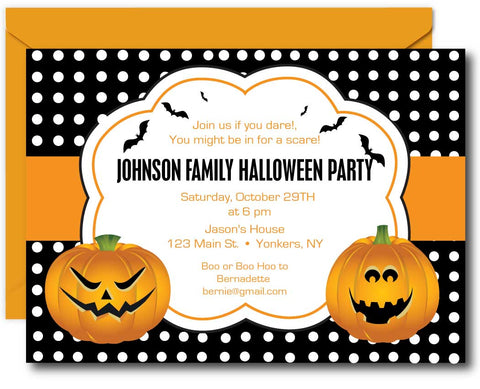 Pumpkins Halloween Invitations