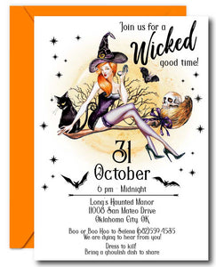 Wicked Halloween Invitations