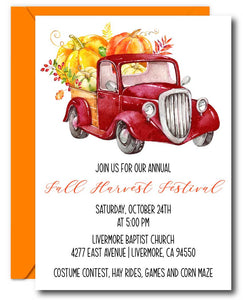 Fall Harvest Invitation