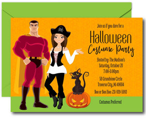 Couples Halloween Party Invitations