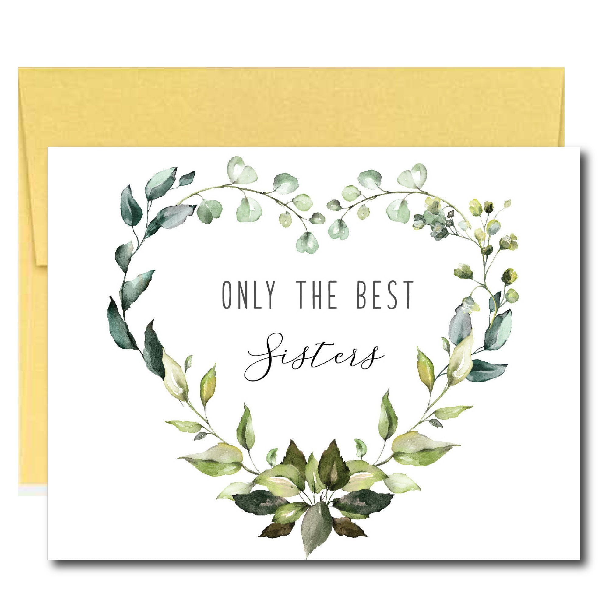 Greenery Pregnancy Announcement Card for Sister